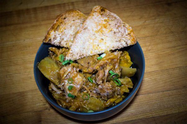 Stewed Pork Hock with Sauerkraut